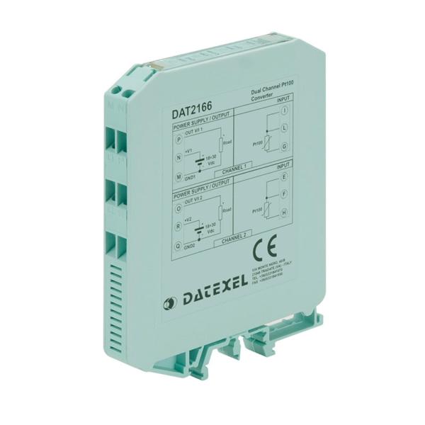 Convertitore doppio canale configurabile per Pt100
