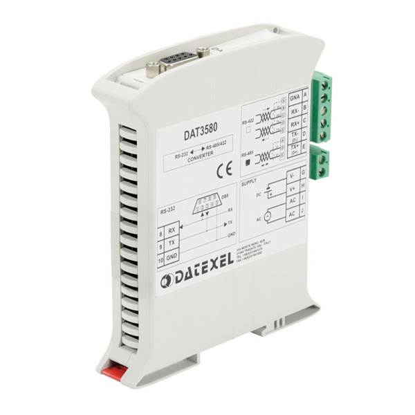 convertitore isolato rs232 rs485 dat 3580